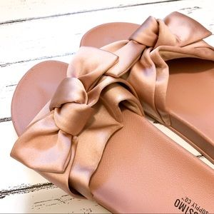 Mossimo Supply Co - Blush Satin Bow Slide Sandal